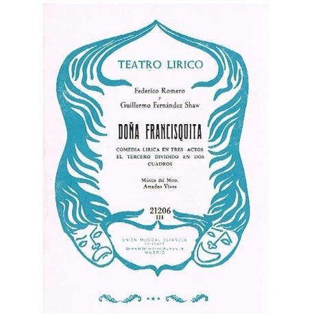 Vives, Amadeo. Doña Francisquita (Libreto). UME