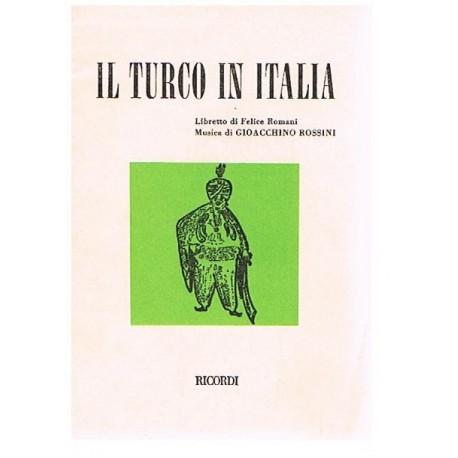 Rossini, Gioacchino. IL Turco in Italia (Libreto). Ricordi