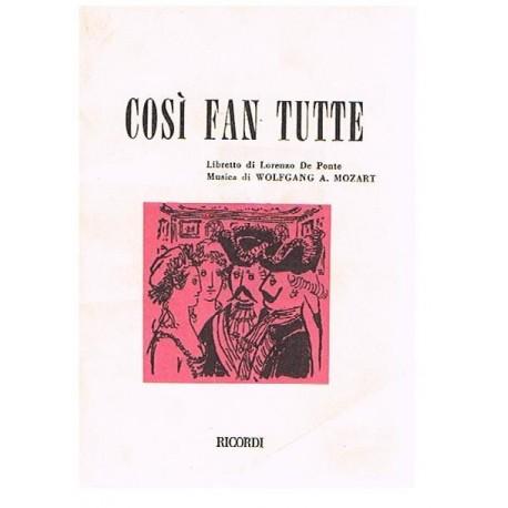 Mozart. Cosi Fan Tutte (Libreto). Ricordi