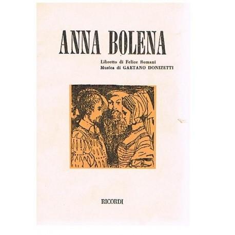 Donizetti, Gaetano. Anna Bolena (Libreto). Ricordi
