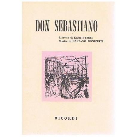 Donizetti, Gaetano. Don Sebastiano (Libreto). Ricordi