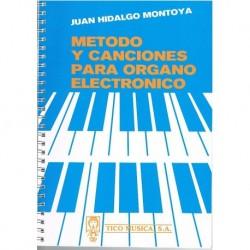 Hidalgo Mont Método y Canciones para Organo Electrónico