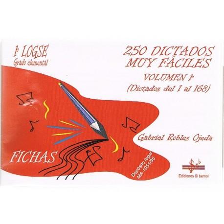 Robles Ojeda 250 Dictados Muy Fáciles (1-168) 1º Grado Elemental