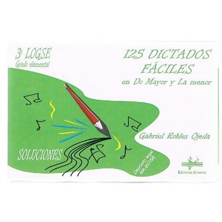 Robles Ojeda 125 Dictados Fáciles 3º Grado Elemental