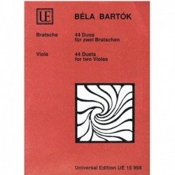 Bartok, Bela 44 Duos para 2...