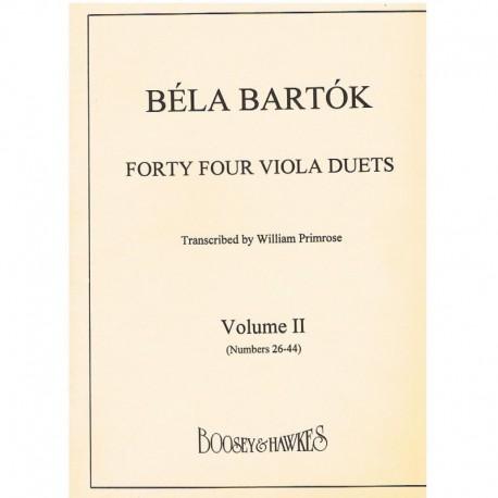 Bartok, Bela 44 Duos para 2 Violas Vol.2 (26-44)