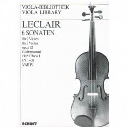Leclair 6 Sonatas para 2...