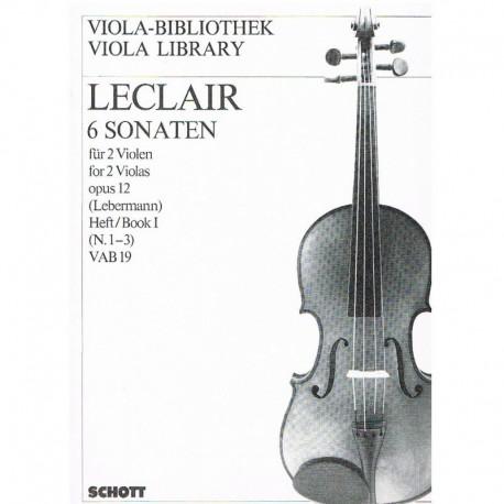 Leclair 6 Sonatas para 2 Violas Op.12 Vol.1 (1-3)