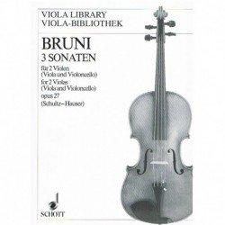 Bruni 3 Sonatas para 2...