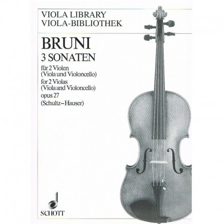 Bruni 3 Sonatas para 2 Violas o Viola y Cello Op.27