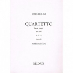 Boccherini. Cuarteto en Do Mayor Op.58 Nº1 (2 Violines, Viola, Cello)