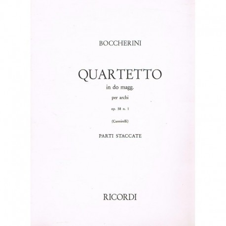 Boccherini. Cuarteto en Do Mayor Op.58 Nº1 (2 Violines, Viola, Cello)