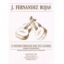 Fernández Ro 12 Estudios Originales (Grado Elemental) (2 Guitarras)