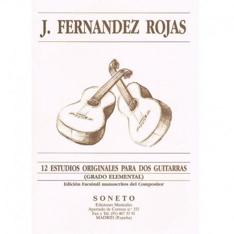 Fernández Rojas. 12 Estudios Originales (Grado Elemental) (2 Guitarras)
