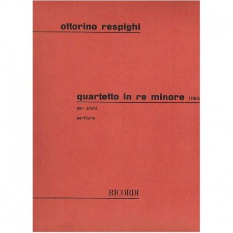 Respighi. Cuarteto en Re menor (1909) (2 Violines, Viola, Cello)