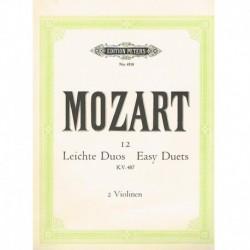 Mozart. 12 Dúos Fáciles KV487 (2 Violines)