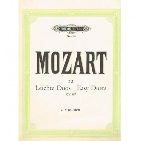 12 Dúos Fáciles KV487 (2 Violines)