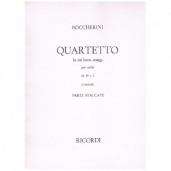 Boccherini. Cuarteto Mib Mayor Op.58 Nº2 (2 Violines, Viola, Cello)