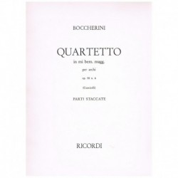 Boccherini. Cuarteto Mib Mayor Op.58 Nº6 (2 Violines, Viola, Cello)