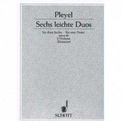 Pleyel 6 Dúos Fáciles Op.48 (2 Violines)