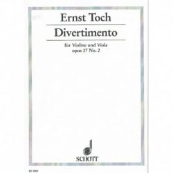 Toch. Divertimento Op.37 Nº2 (Violin y Viola)