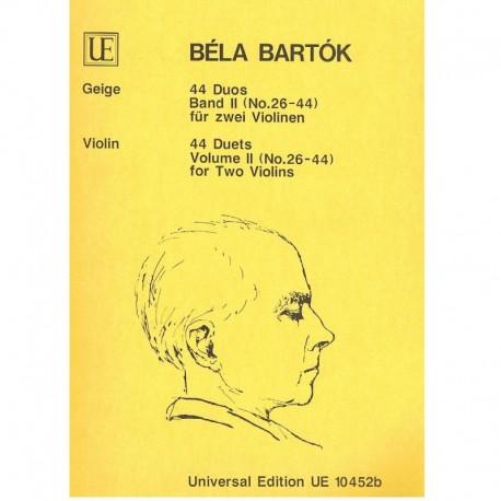 Bartok, Bela. 44 Dúos Vol.2 (26-44) (2 Violines)