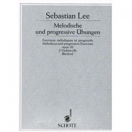 Lee, Sebastian. Ejercicios Melódicos y Progresivos Op.131 (2 Cellos)