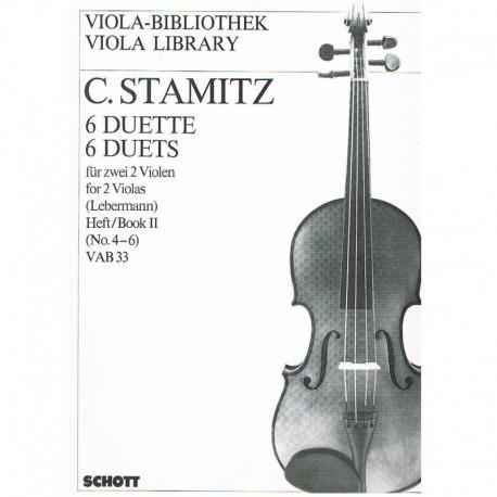 Stamitz, Carl. 6 Dúos Vol.2 (4-6) VAB33 (2 Violas)
