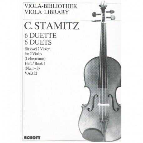 Stamitz, Carl. 6 Dúos Vol.1 (1-3) VAB32 (2 Violas)
