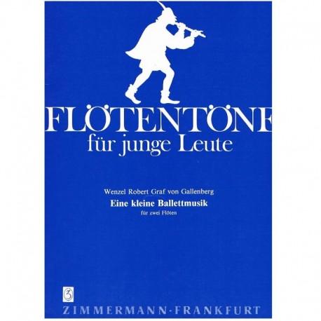 Gallenberg, Eine Kleine Ballettmusik (2 Flautas)