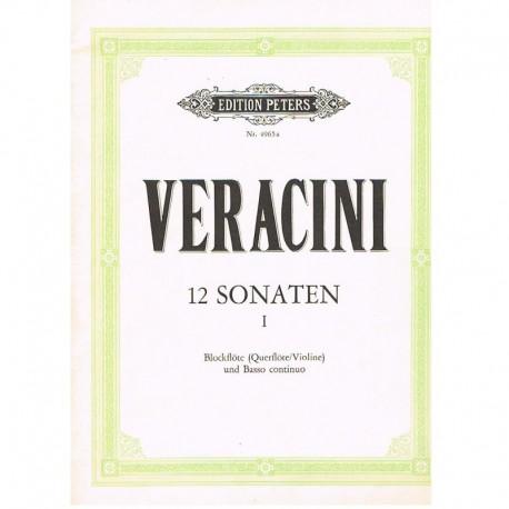 Veracini. 12 Sonatas Vol.1 (Flauta Dulce/Violin y Piano)