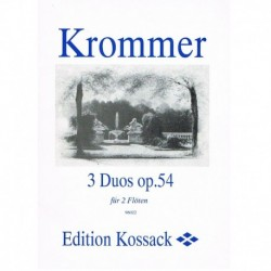 Krommer 3 Dúos Op.54 (2 Flautas)
