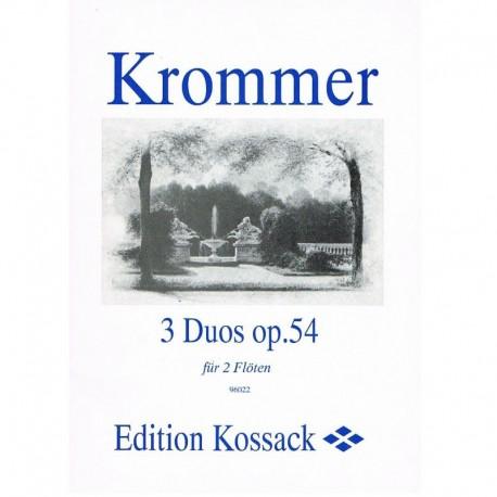 Krommer. 3 Dúos Op.54 (2 Flautas)