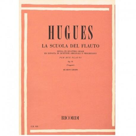 Hugues. La Scuola del Flauto Op.51 Vol.4 (2 Flautas)