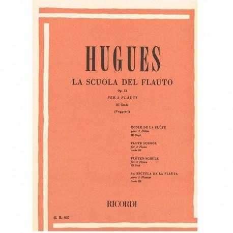 Hugues La Scuola del Flauto Op.51 Vol.3 (2 Flautas)