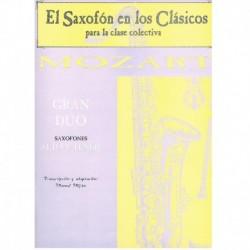 Mozart. Gran Dúo (Saxofón...