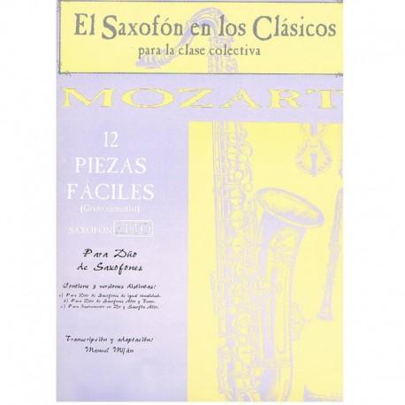 12 Piezas Fáciles (2 Saxofones)