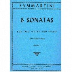 Sammartini 6 Sonatas Vol.1 (2 Flautas y Piano)