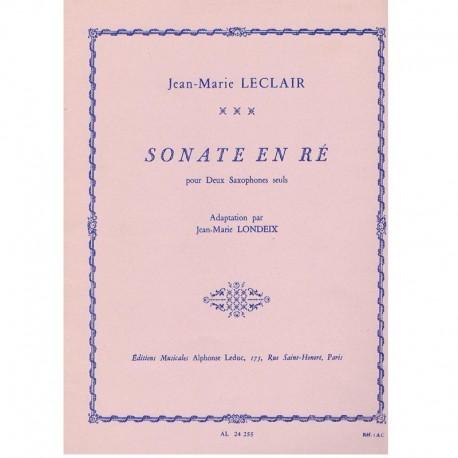 Leclair Sonata en Re (2 Saxofones)