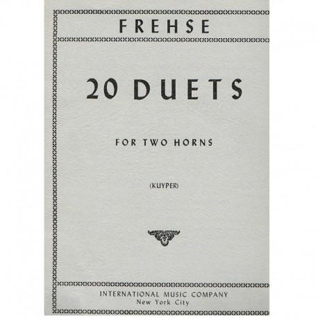 Frehse 20 Dúos (2 Trompas)