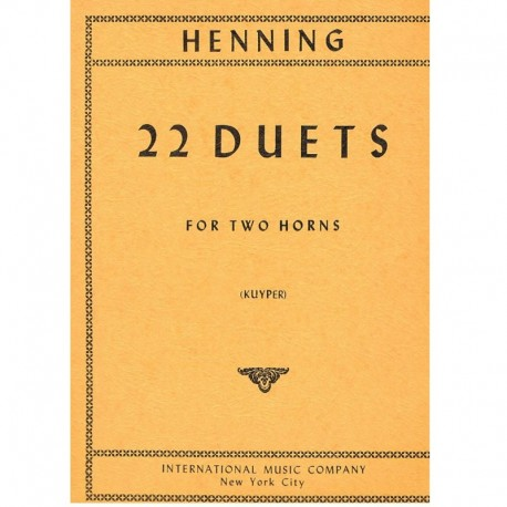 Henning 22 Dúos (2 Trompas)
