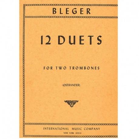 Bleger. 12 Dúos (2 Trombones)