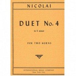 Nicolai. Dúo Nº4 Mi menor...