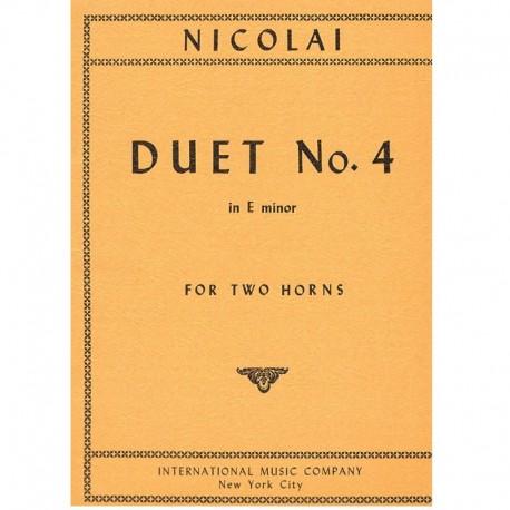 Nicolai. Dúo Nº4 Mi menor (2 Trompas)