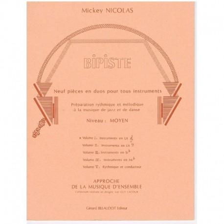 Nicolas. Bipiste. 9 Dúos Vol.1 (Instrumentos en Do)
