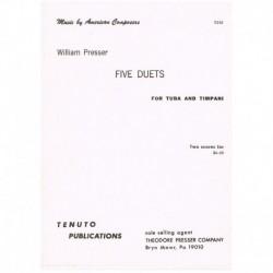 Presser, Wil 5 Dúos (Tuba y Timbales)