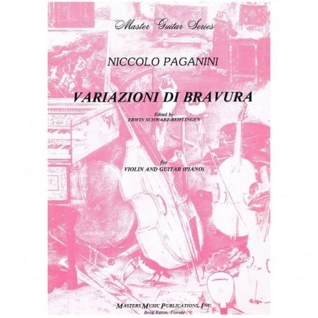 Paganini, Ni Variazioni di Bravura (Violín y Guitarra/Piano)