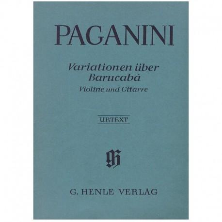 Paganini, Ni 60 Variaciones Sobre Barucaba (Violín y Guitarra)