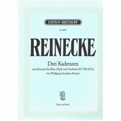 Reinecke, Ca Tres Cadencias del Concierto para Flauta, Arpa y Orquesta K299