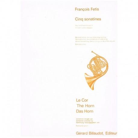 Fetis, Franç Cinq Sonatines (Trompa y Violoncello/Fagot)
